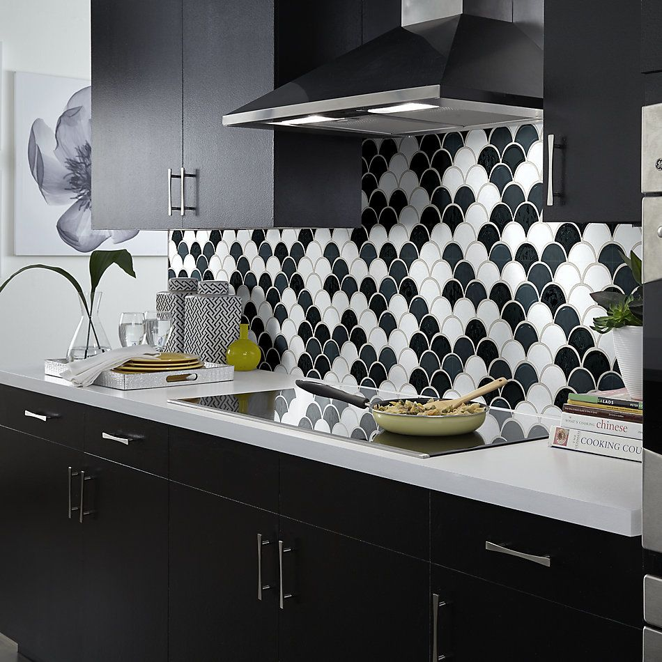 Shaw Floors Toll Brothers Ceramics Geoscapes Fan Black/White 00151_TL86A