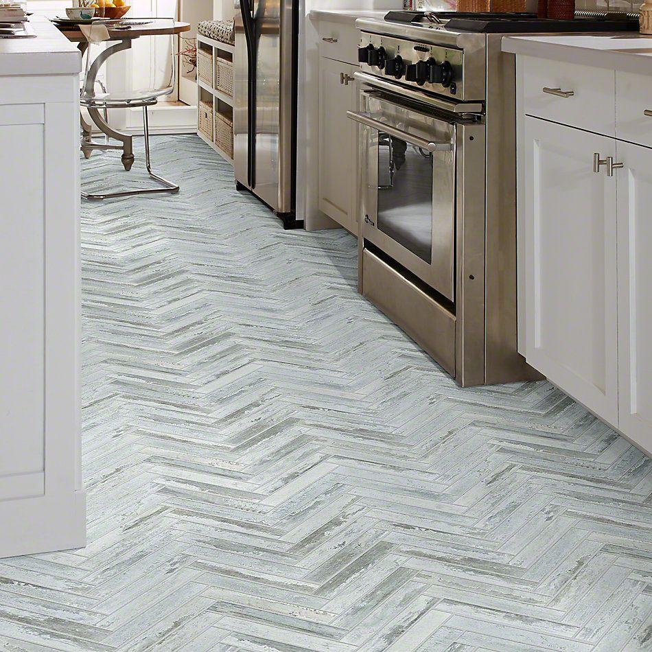 Shaw Floors Ceramic Solutions Fusion Herringbone Mosaic Titanium 00152_190TS
