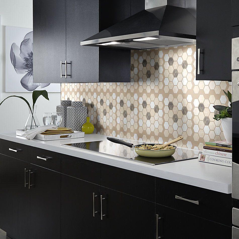 Shaw Floors Home Fn Gold Ceramic Del Ray Hexagon Mosaic Ballast 00152_TGL26