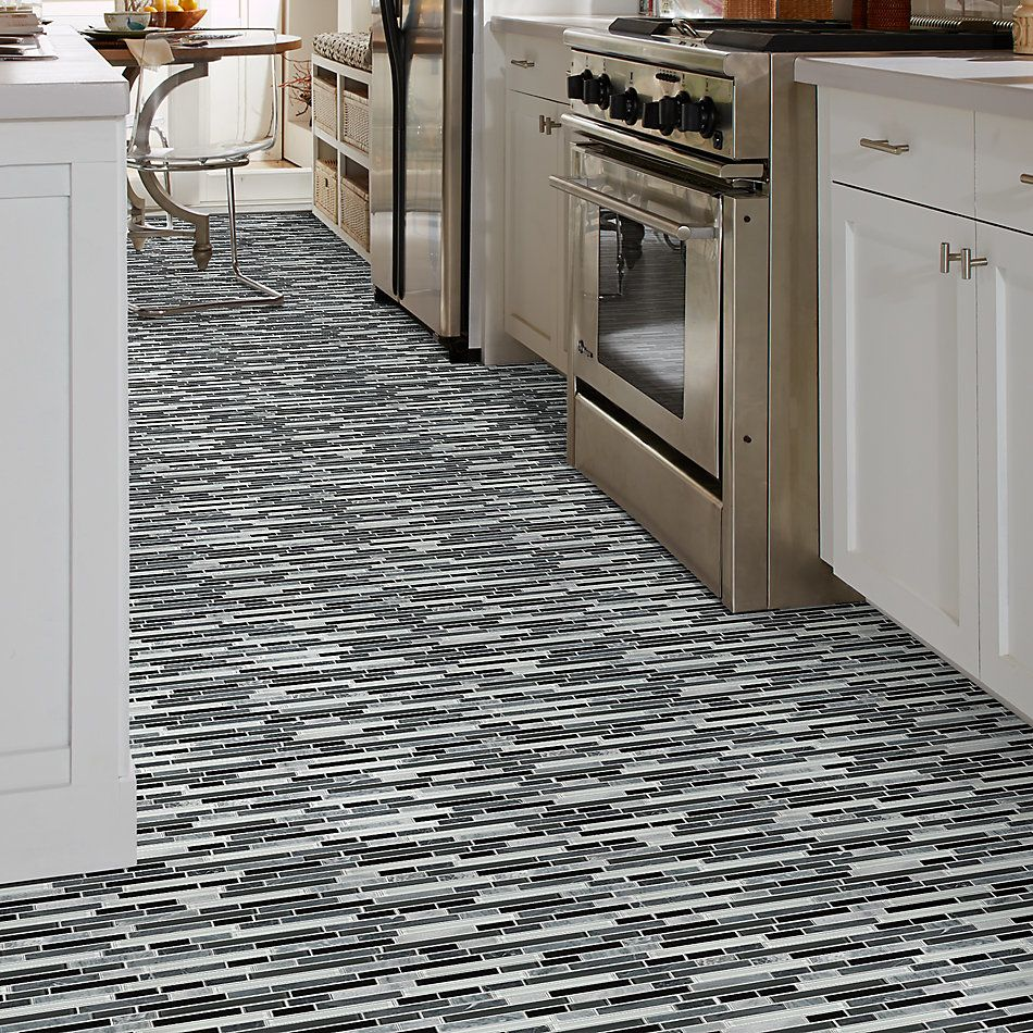 Shaw Floors Home Fn Gold Ceramic Awesome Mix Random Linear Mosi Midnight 00159_TG63B
