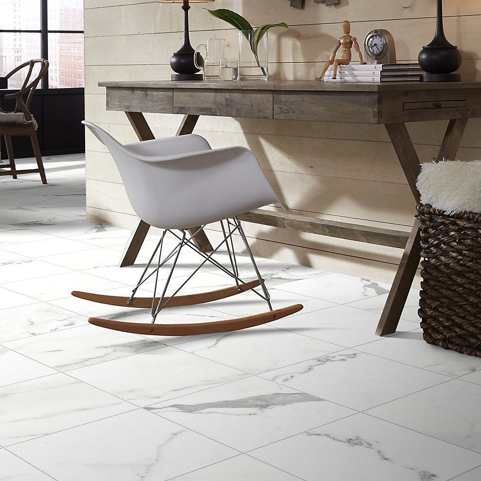 Shaw Floors Home Fn Gold Ceramic Caracalla 18×18 Calacatta 00170_TGM44
