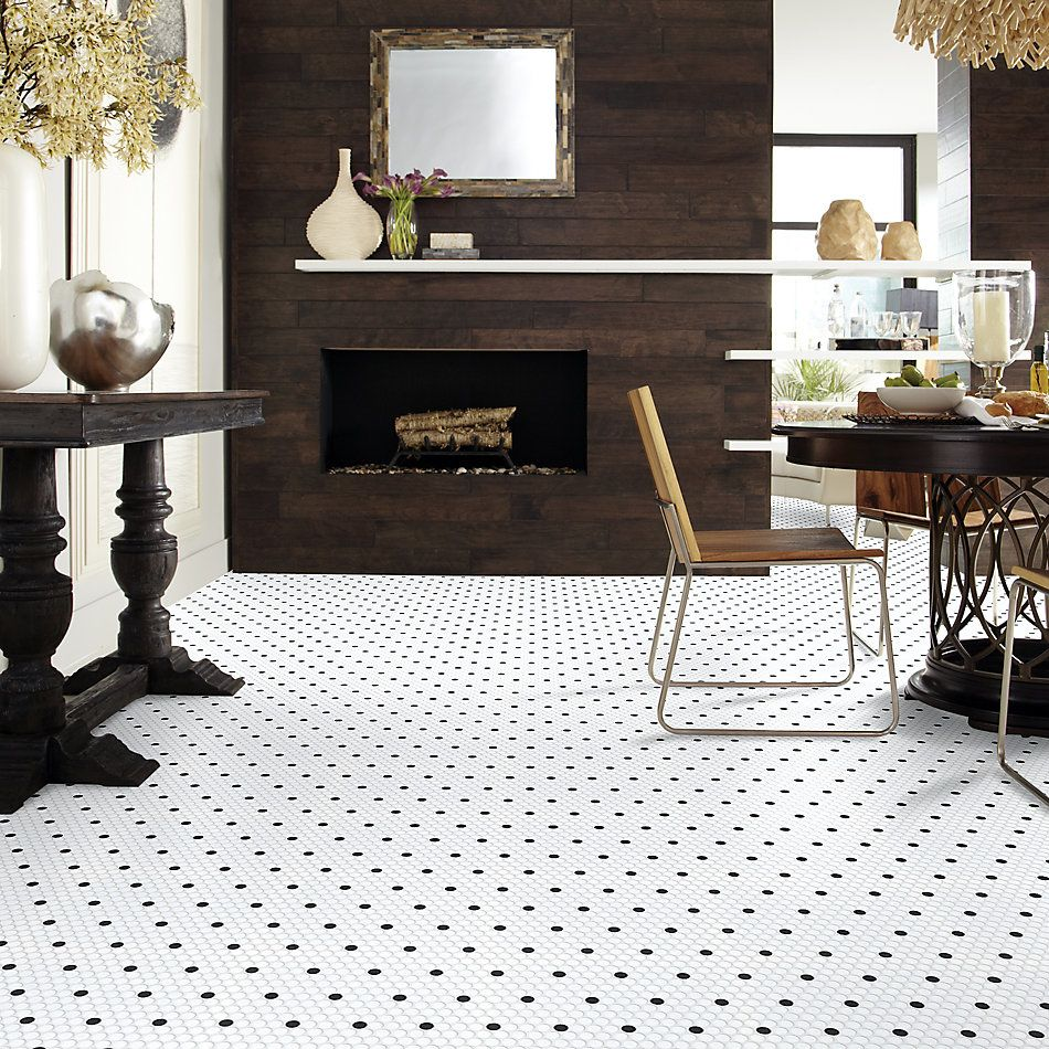 Shaw Floors Ceramic Solutions Coolidge Matte Penny Round Polkadot 00190_239TS