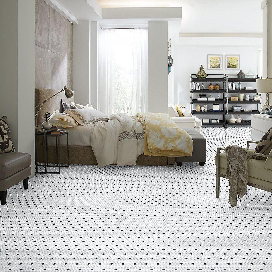 Shaw Floors Ceramic Solutions Coolidge Matte Penny Round Polkadot 00190_239TS