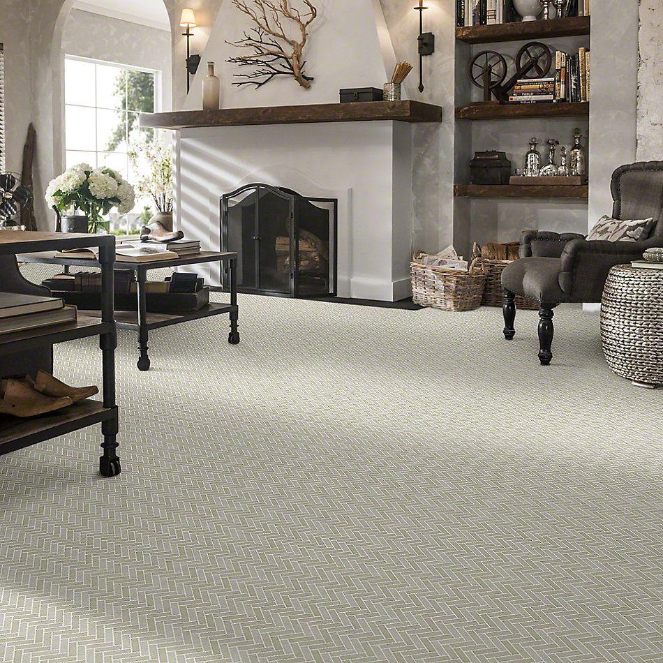 Shaw Floors SFA Pearl Herringbone Mosaic Crema Marfil 00200_SA34A