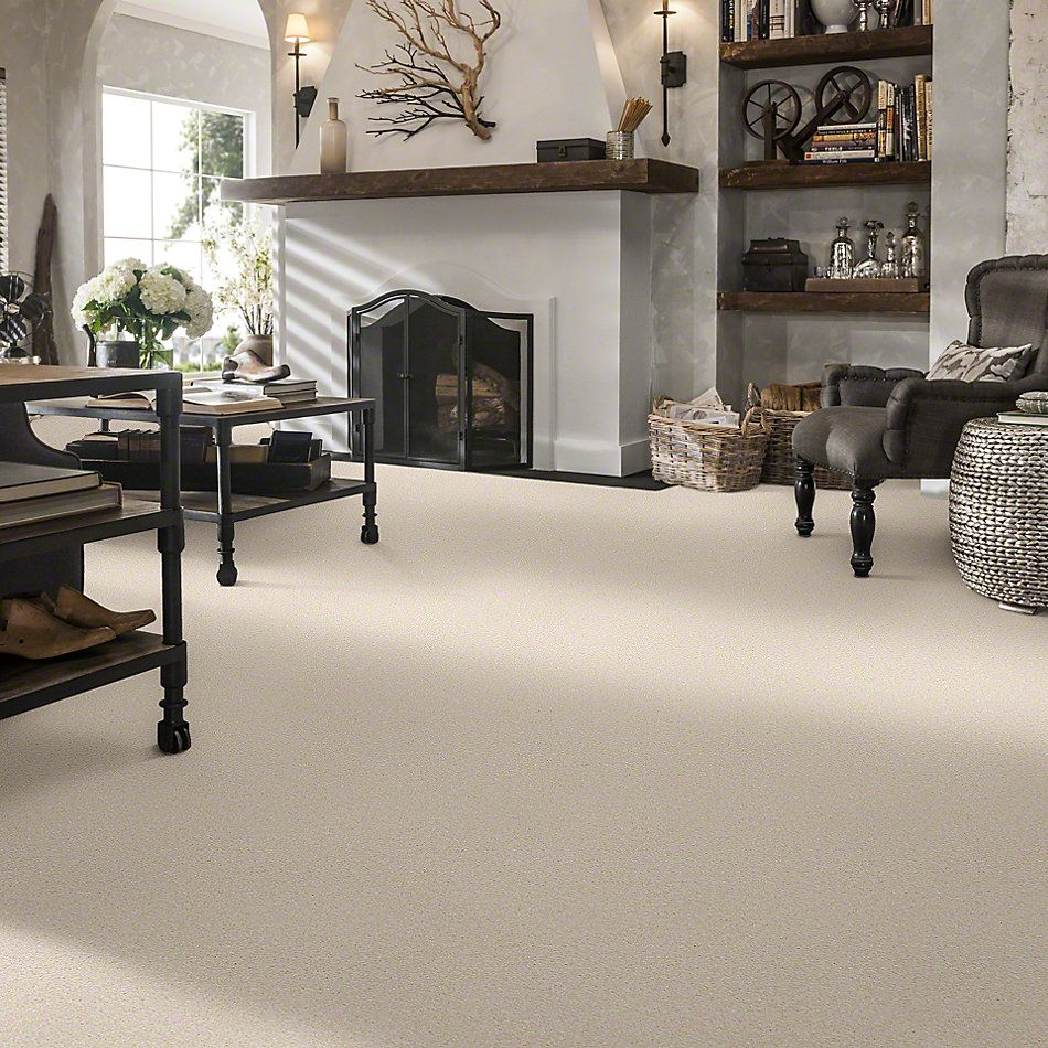 Shaw Floors Queen Sandy Hollow II 12′ Almond Flake 00200_Q4275
