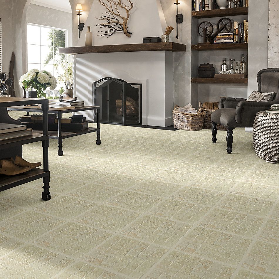 Shaw Floors Home Fn Gold Ceramic Stonehenge Bw Mosaic Plsh Allure 00200_TG50D
