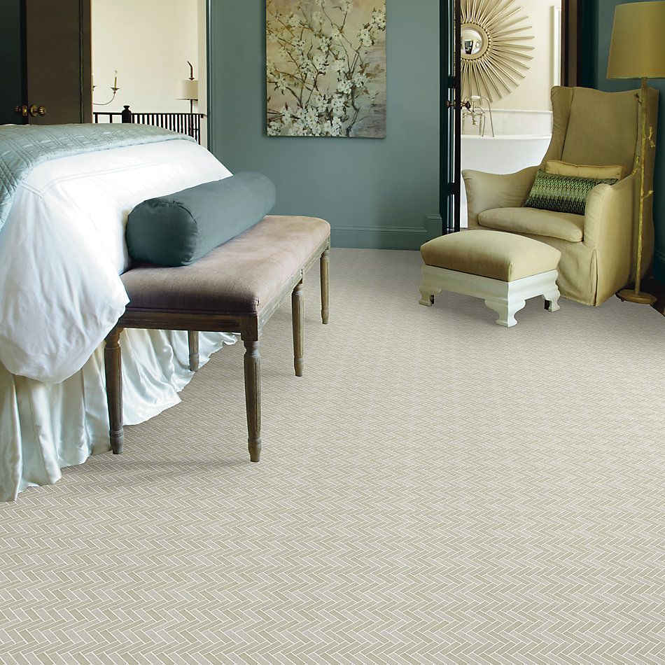 Shaw Floors Home Fn Gold Ceramic Estate Herringbone Mosaic Crema Marfil 00200_TGN88