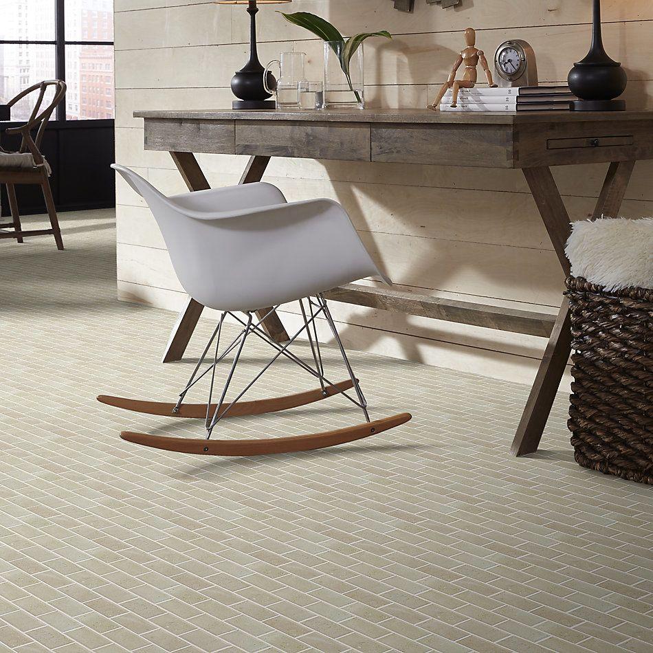 Shaw Floors Home Fn Gold Ceramic Estate 2×4 Beveled Edge Mosaic Crema Marfil 00200_TGN89
