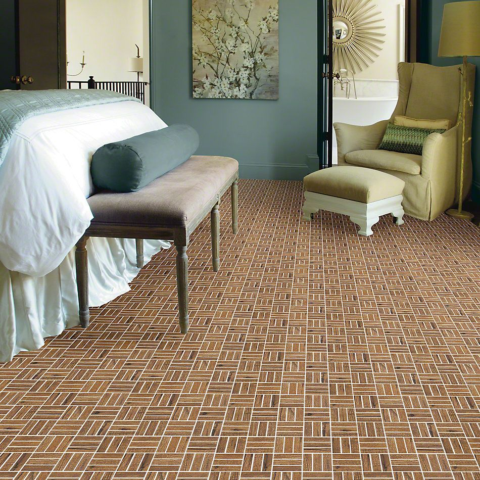 Shaw Floors Ceramic Solutions Fired Hck Mosaic Spicebark 00220_CS57Q