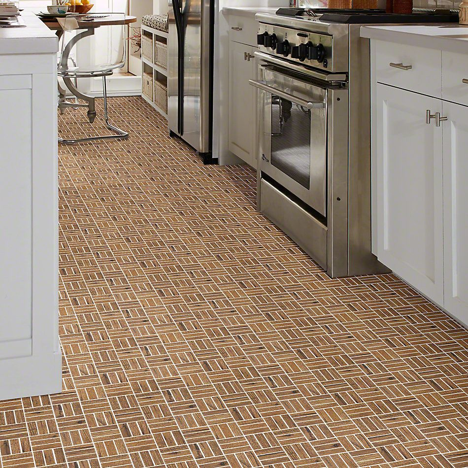 Shaw Floors Ceramic Solutions Fired Hickory Mosaic Spicebark 00220_CS57Q