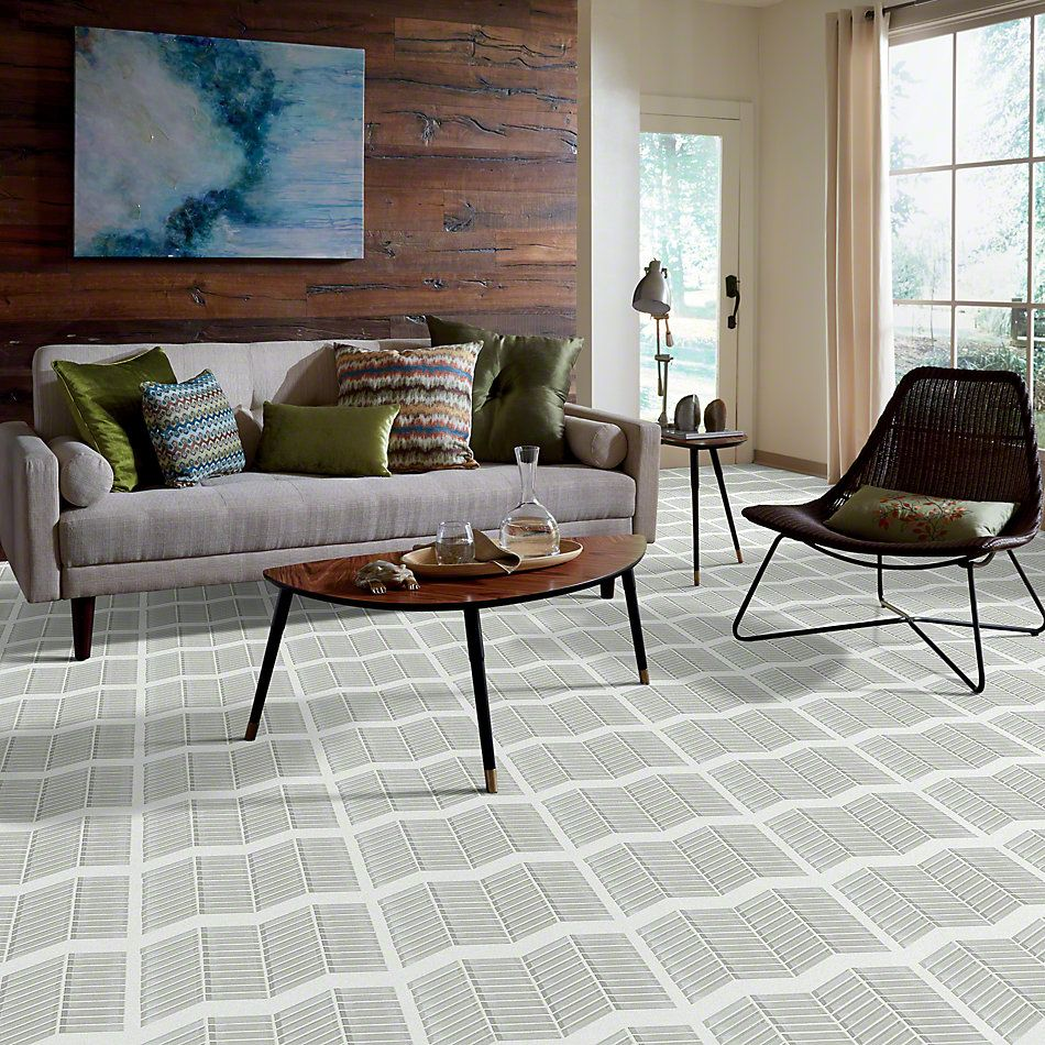 Shaw Floors Ceramic Solutions Cardinal Chevron Glass Mosaic Mist 00250_CS15Z