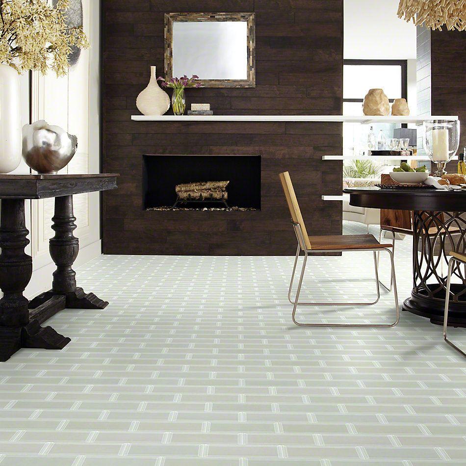 Shaw Floors Ceramic Solutions Cardinal 3×9 Beveled Glass Mist 00250_CS12Z