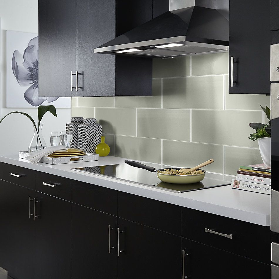 Shaw Floors Home Fn Gold Ceramic Principal 8×24 Glass Tile Mist 00250_TG76B