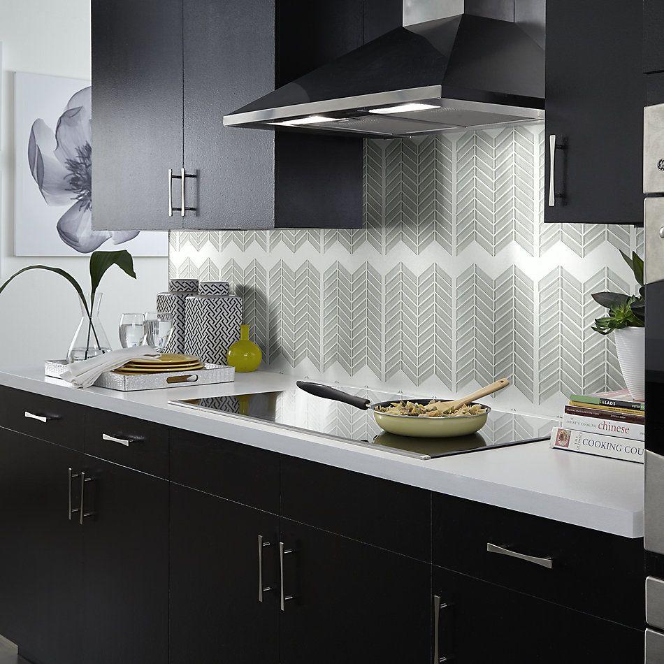 Shaw Floors Home Fn Gold Ceramic Principal Chevron Glass Mo Mist 00250_TG78B