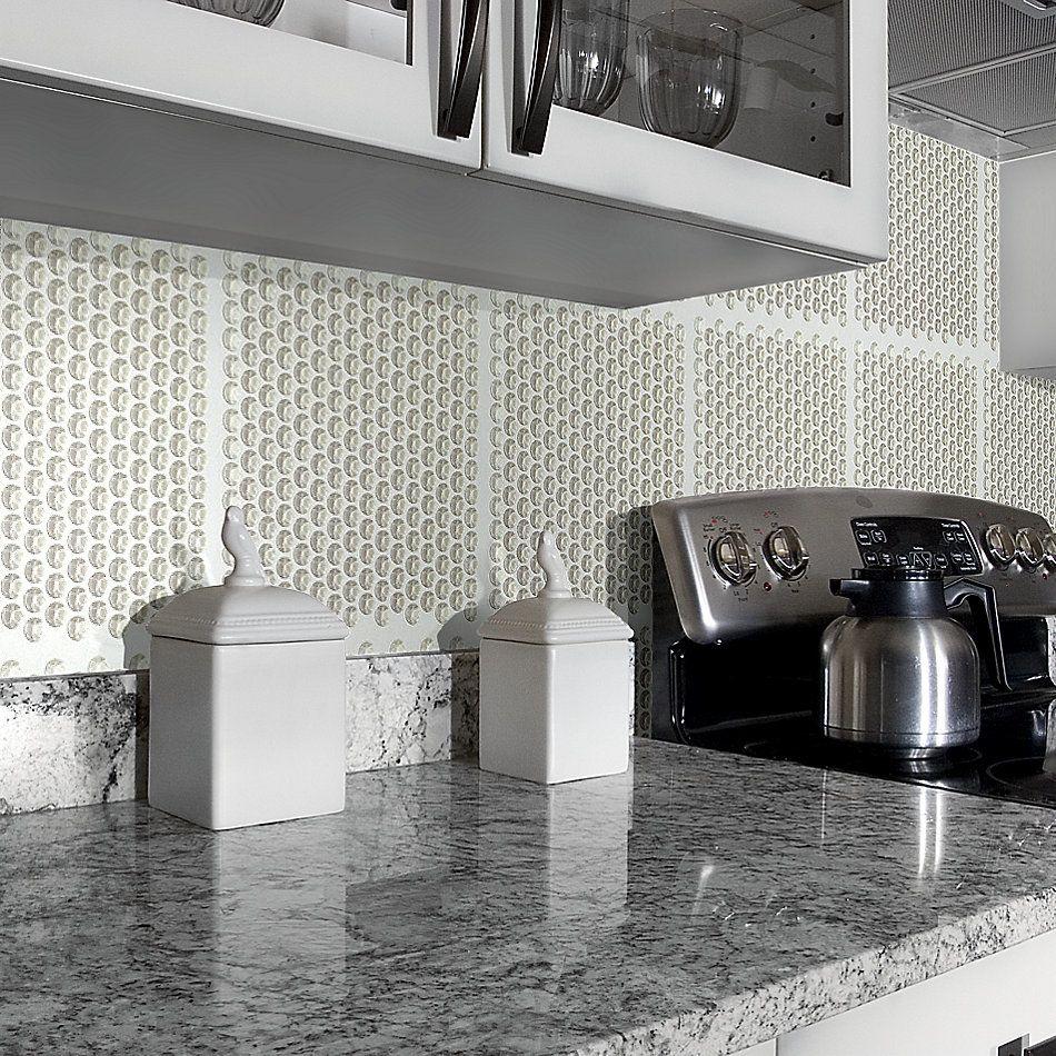 Shaw Floors Home Fn Gold Ceramic Principal Penny Round Glass Mo Mist 00250_TG81B