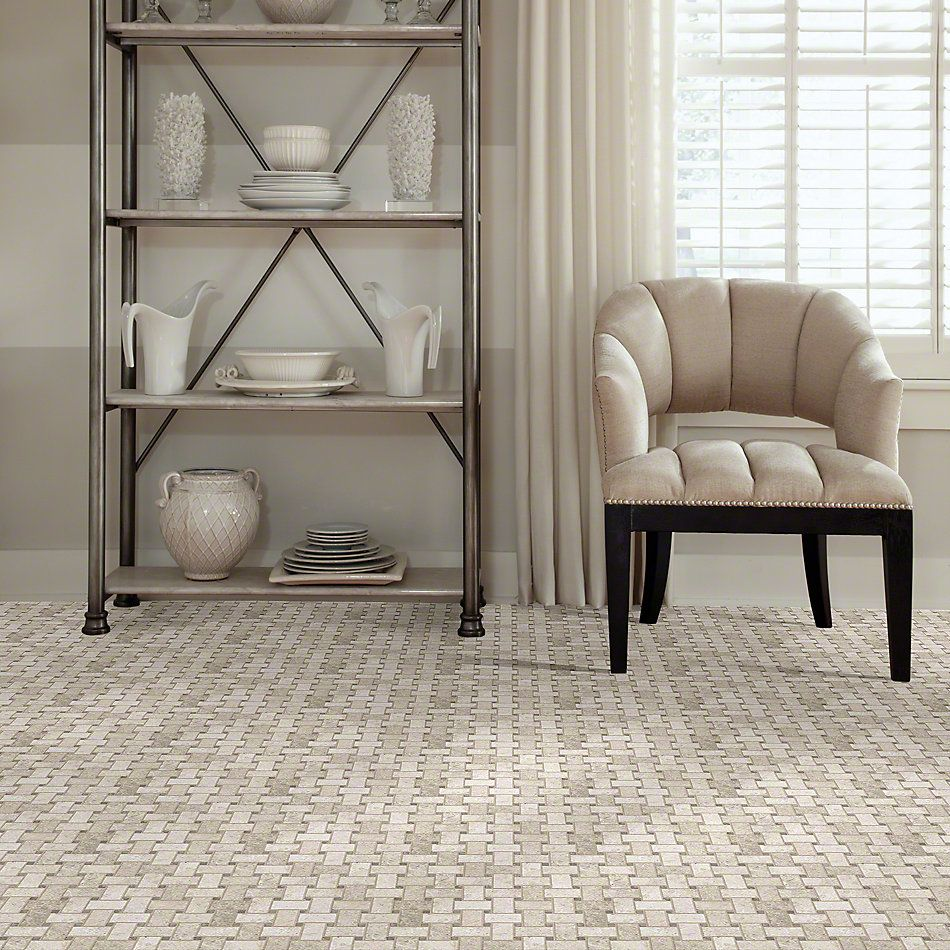 Shaw Floors Ceramic Solutions Boca Basketweave Mosaic Harbor 00255_CS80K