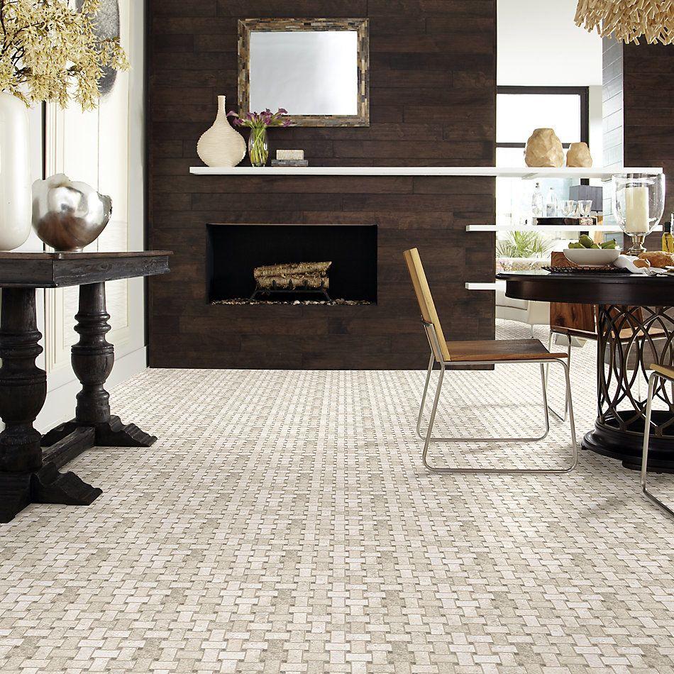 Shaw Floors Home Fn Gold Ceramic Del Ray Basketweave Mosaic Harbor 00255_TGL27