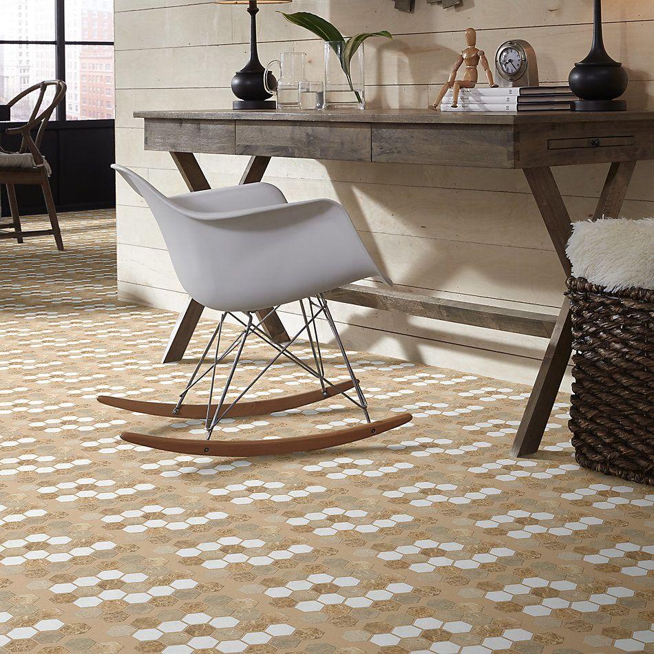 Shaw Floors Home Fn Gold Ceramic Del Ray Hexagon Mosaic Golden Isle 00261_TGL26
