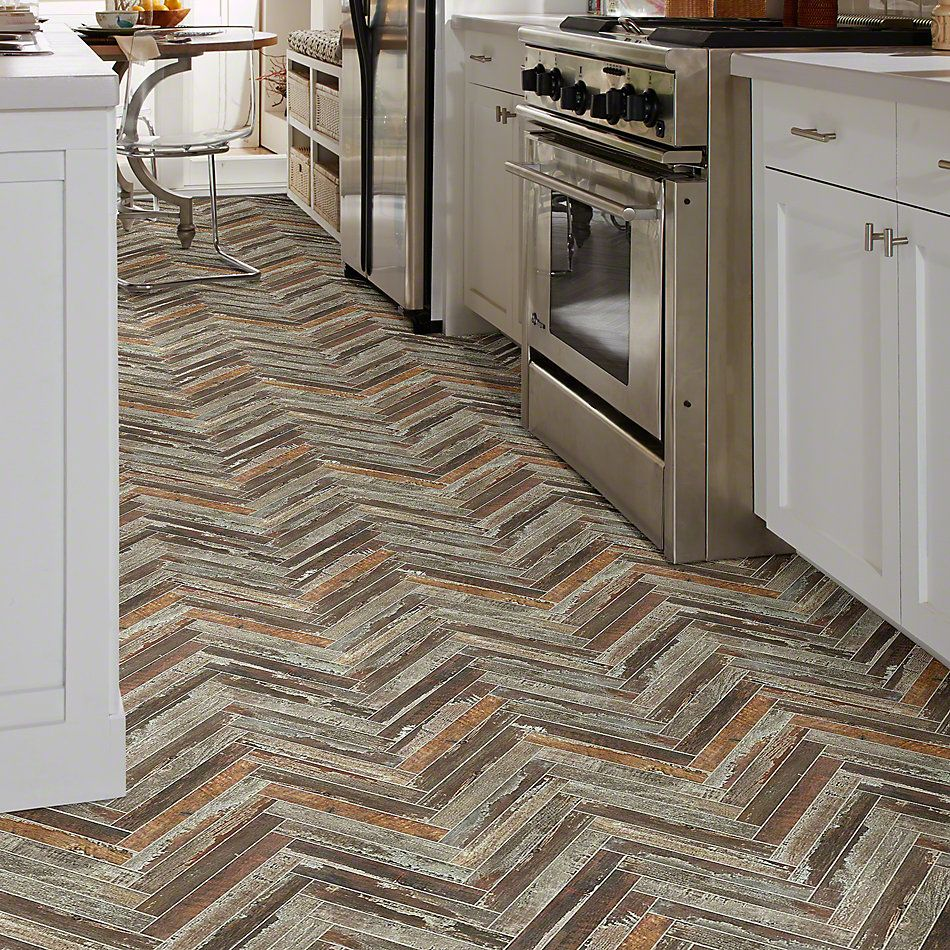 Shaw Floors Ceramic Solutions Fusion Herringbone Mosaic Iron 00267_190TS