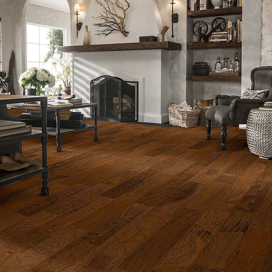Shaw Floors Epic Legends Pebble Hill Hickory 5 Burnt Barnboard 00304_SW219