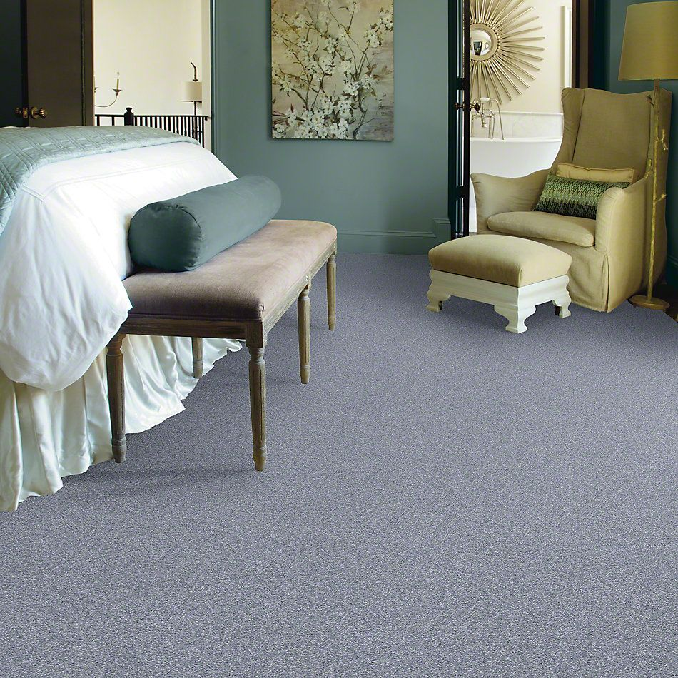 Shaw Floors Queen Sandy Hollow II 12′ Blue Suede 00400_Q4275