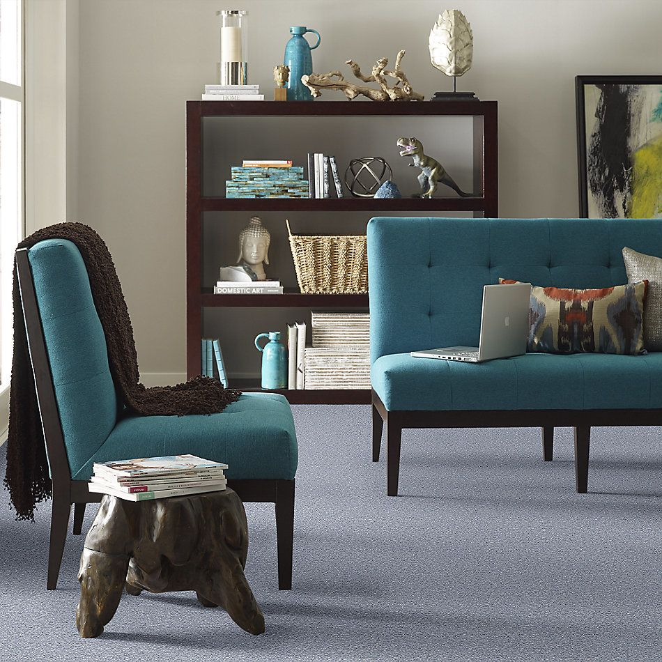 Shaw Floors SFA Corner Cafe 15′ Blue Suede 00400_EA038