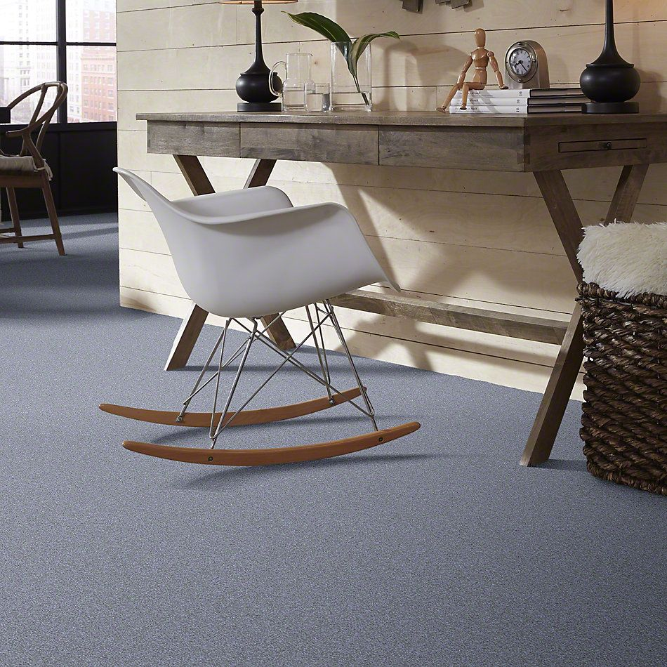 Shaw Floors Sandy Hollow III 12′ Blue Suede 00400_Q4277