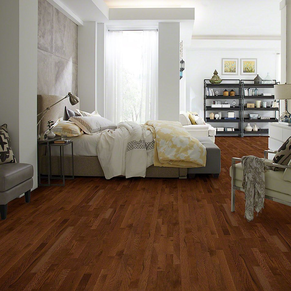 Shaw Floors Home Fn Gold Hardwood Family Reunion 2.25 Saddle 00401_HW424