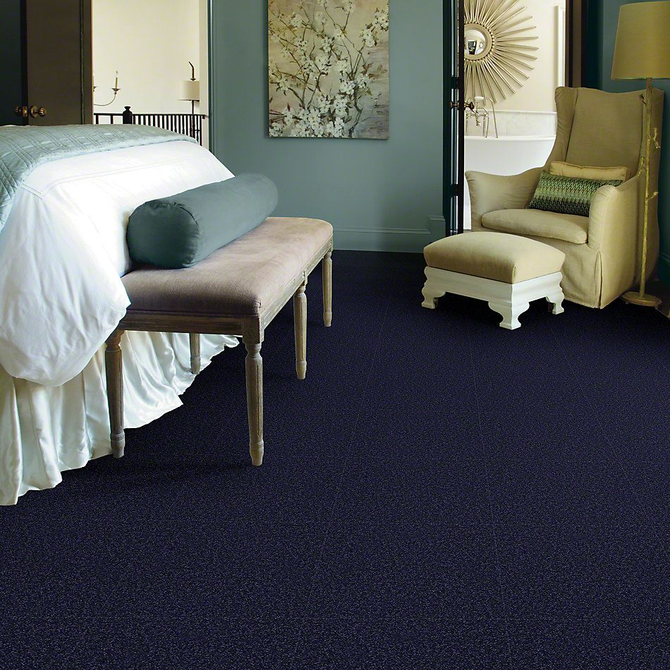 Shaw Floors Queen Sandy Hollow II 12′ Indigo 00404_Q4275