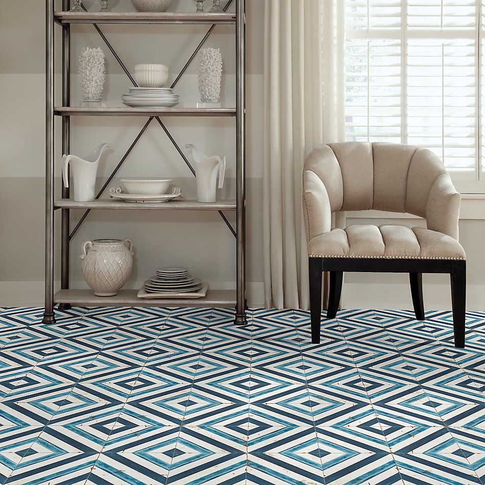 Shaw Floors Home Fn Gold Ceramic Antiqued 8×8 Blue Daze 00410_TG95C