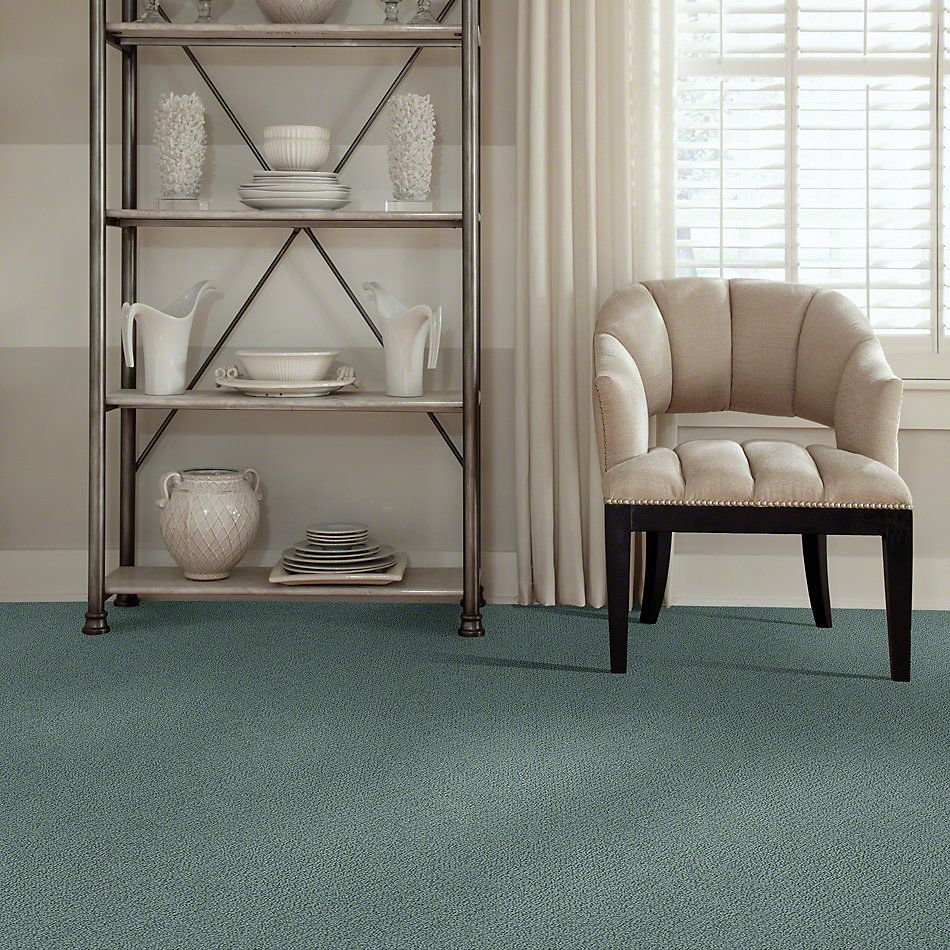 Shaw Floors Shaw Flooring Gallery Subtle Shimmer Loop Washed Turquoise 00453_5568G