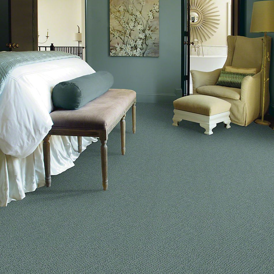 Shaw Floors Truly Relaxed Loop Washed Turquoise 00453_E0657