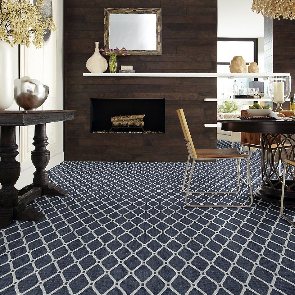Anderson Tuftex American Home Fashions Neat Star Indigo 00458_ZA888
