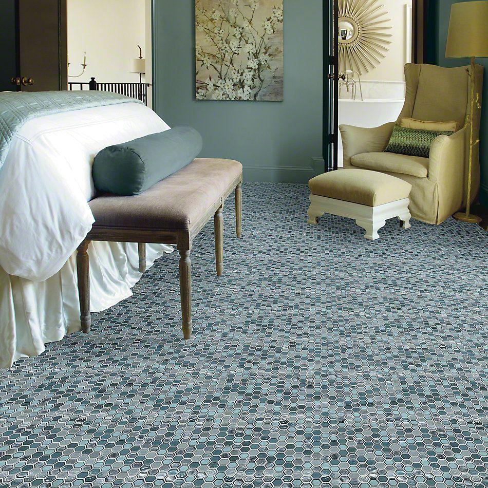 Shaw Floors Ceramic Solutions Molten Hexagon Glass Hydra 00460_CS52V