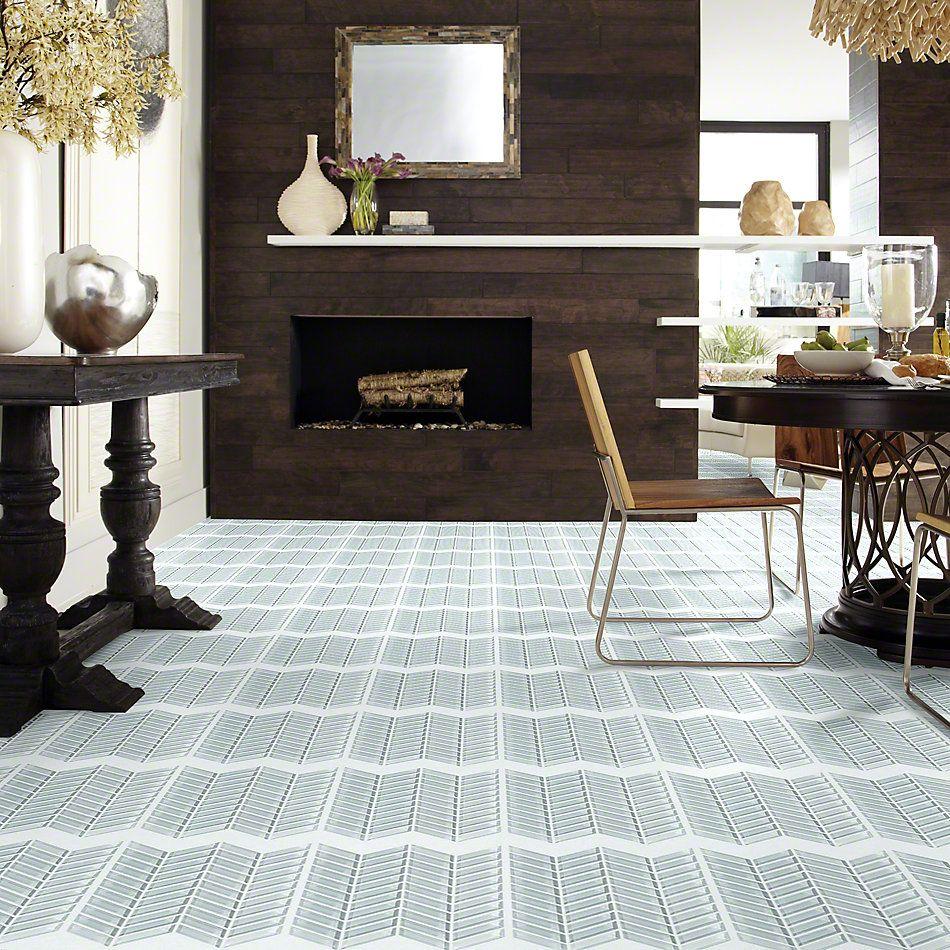 Shaw Floors Ceramic Solutions Cardinal Chevron Glass Mosaic Cloud 00500_CS15Z