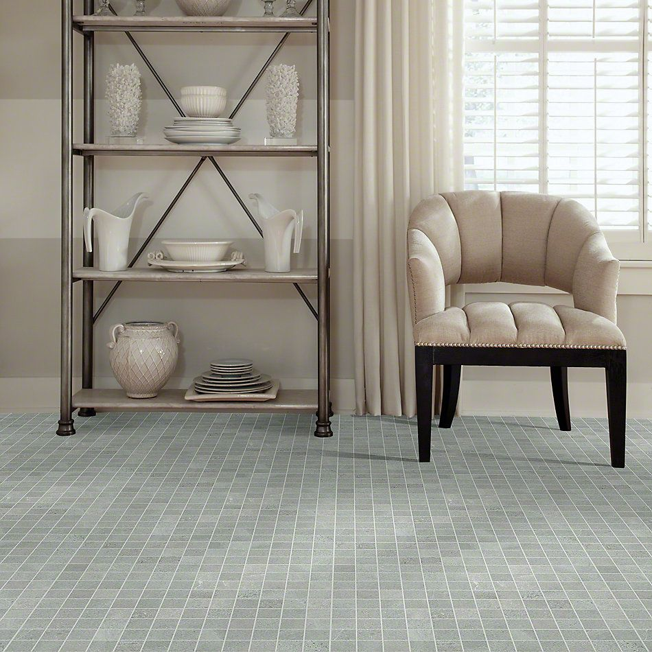 Shaw Floors Ceramic Solutions Sculpture Mosaic Grey 00500_CS98X