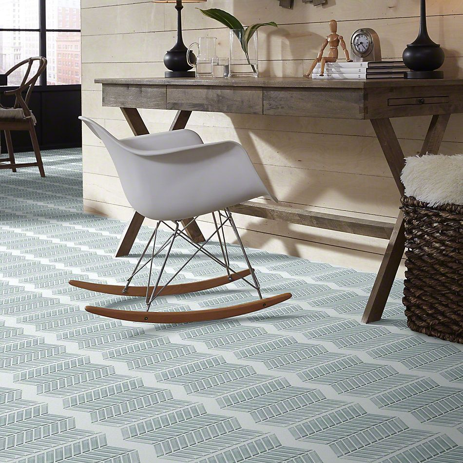 Shaw Floors SFA Paramount Chevron Glass Mosaic Cloud 00500_SA16A