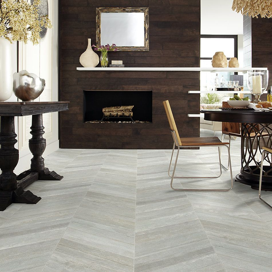 Shaw Floors Home Fn Gold Ceramic Mirth Chevron Gray 00500_TG48A