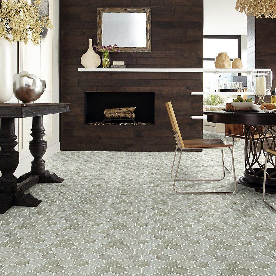 Shaw Floors Home Fn Gold Ceramic Estate Hexagon Mosaic Rockwood 00500_TGN87