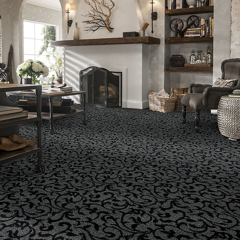 Shaw Floors Foundations Lucid Ivy Net Charred 00502_E9779