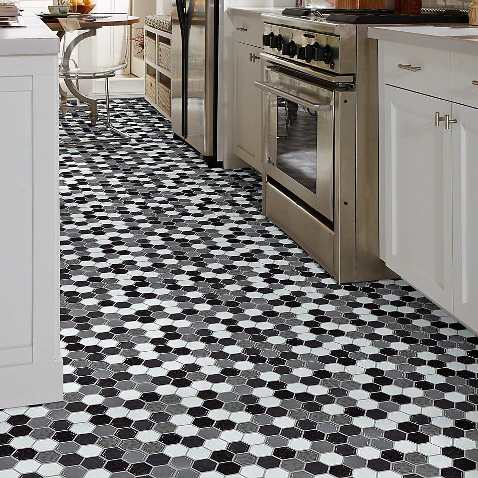 Shaw Floors Ceramic Solutions Geoscapes Hexagon Cool Blend 00510_CS50V