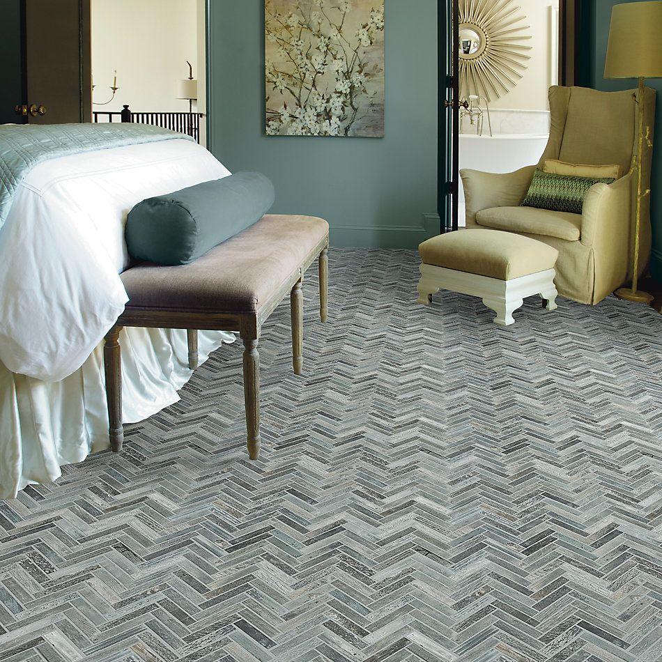 Shaw Floors Charwood Herringbone Mosaic Ash 00510_TG30D