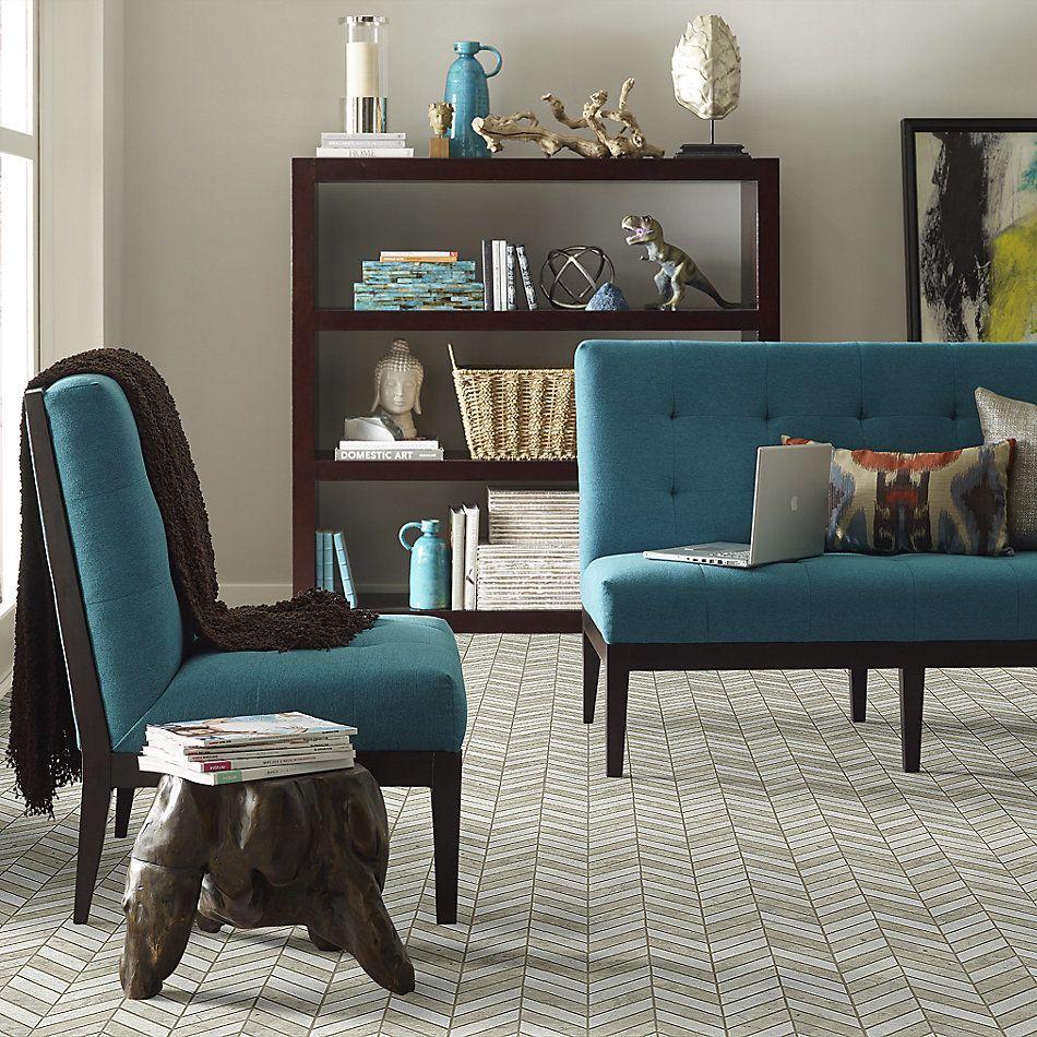 Shaw Floors Home Fn Gold Ceramic Del Ray Chevron Thala Gray 00510_TG43C
