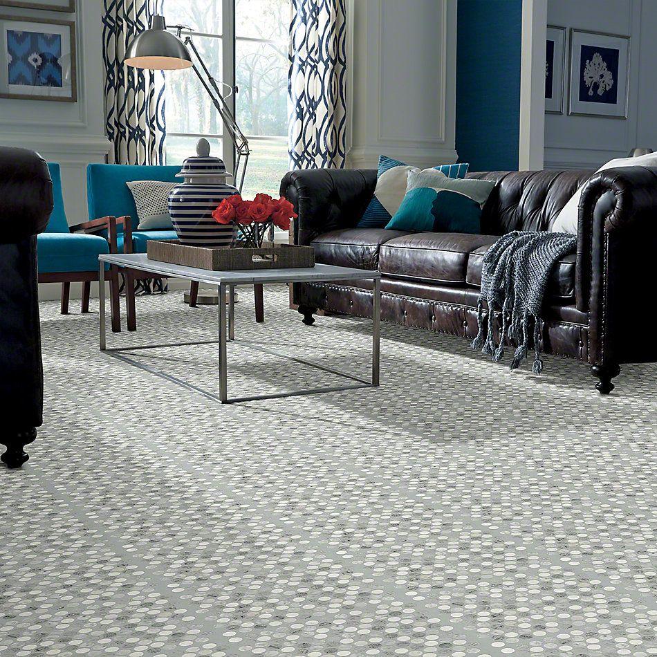Shaw Floors SFA Pearl Mosaic Pr Bian/Carr/Blu Grigio 00511_SA32A