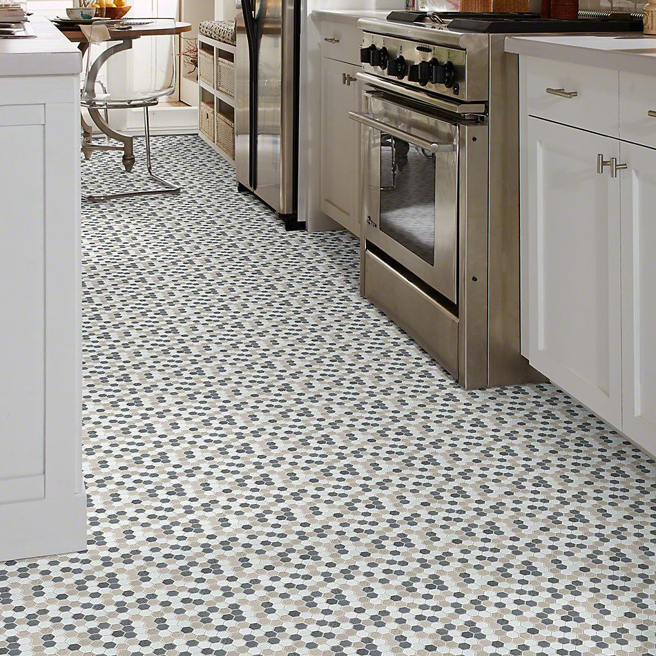 Shaw Floors Ceramic Solutions Geoscapes Hexagon Warm Blend 00520_CS50V
