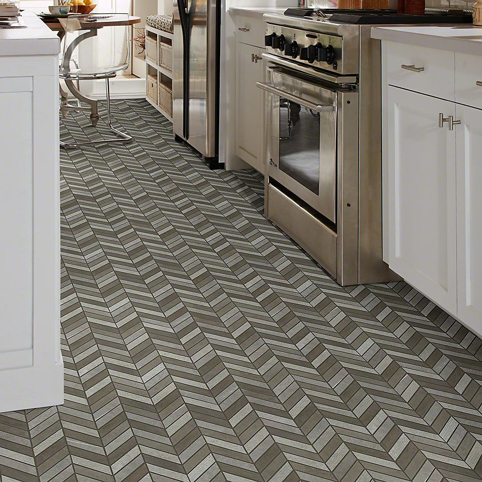 Shaw Floors Ceramic Solutions Boca Chevron Foussana Gray 00530_CS29X