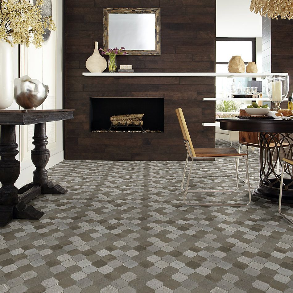 Shaw Floors Home Fn Gold Ceramic Del Ray Stret Hex Foussana Gray 00530_TG40C