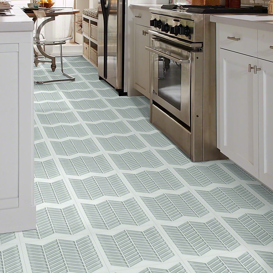 Shaw Floors Ceramic Solutions Cardinal Chevron Glass Mosaic Shadow 00550_CS15Z
