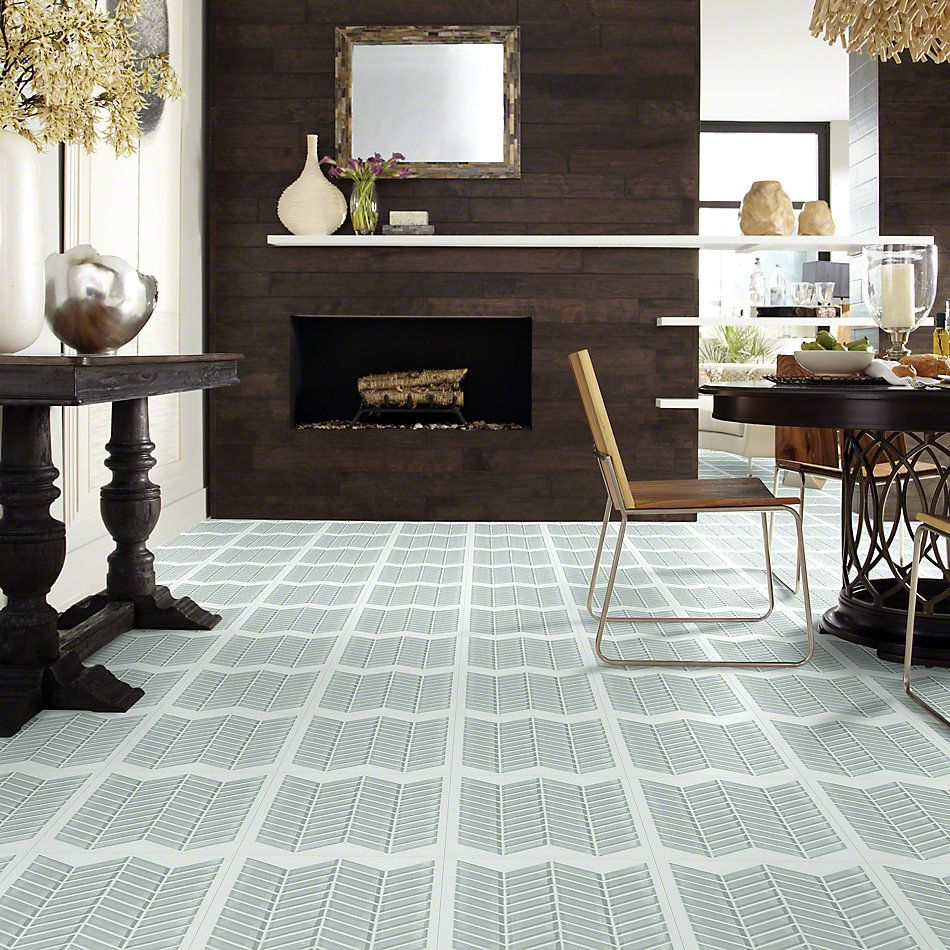 Shaw Floors SFA Paramount Chevron Glass Mosaic Shadow 00550_SA16A