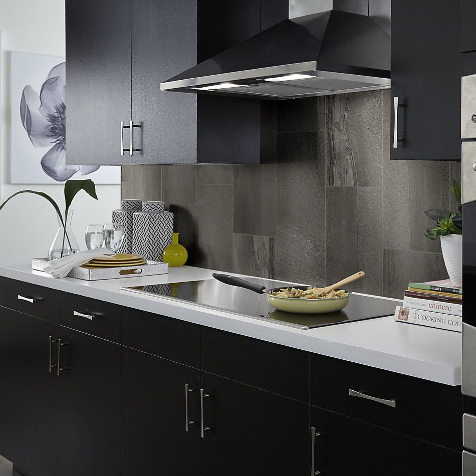 Shaw Floors Home Fn Gold Ceramic Pantheon12x24 Polished Coal 00550_TG05A